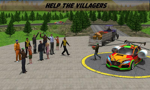 Helicopter Car: Relief Cargo