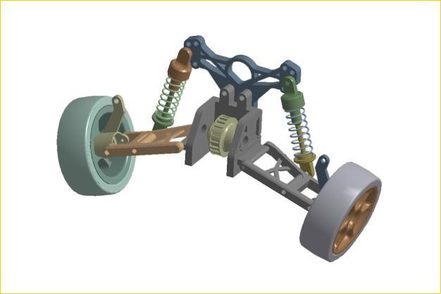 ANSYS - Геометрическая модель подвески транспортного средства