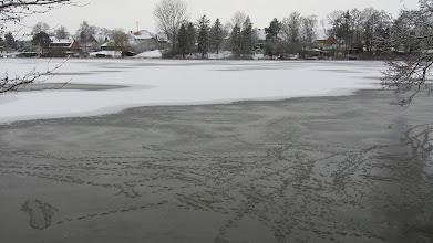 Photo: Winterlicher Großensee, Blick auf das Dorf