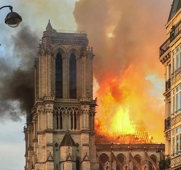Notre Dame burning Image LeLaisserPasserA38