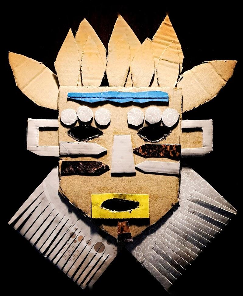 la maschera tribale di Massimo_Vitellino