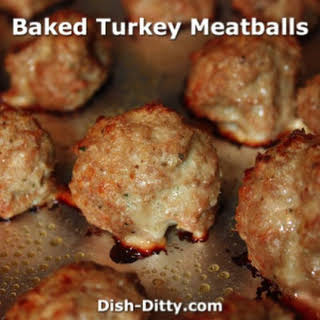 Baked Turkey Meatballs (Low Fat).