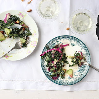 Kale Salad with Lemon Thyme Pesto Vinaigrette