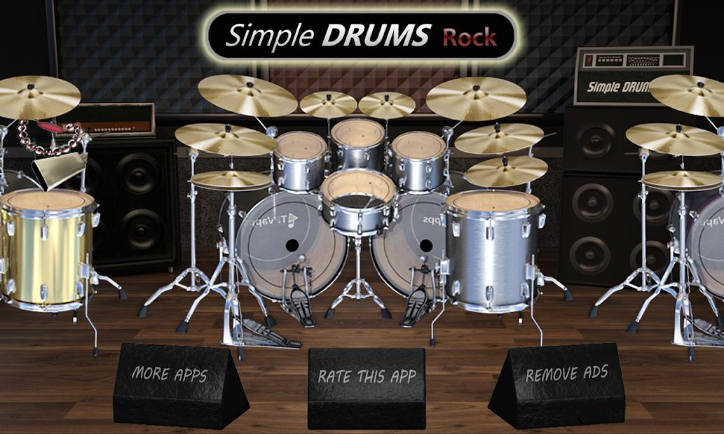 Simple Drums Rock - Realistic Drum Simulator Android App Screenshot