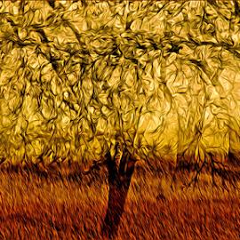 Impressionistic landscape by Kittie Groenewald - Digital Art Abstract