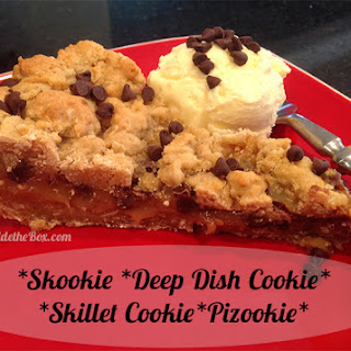 Peanut Butter Chocolate Chip Skillet Cookie.