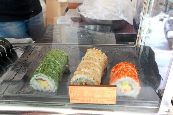 惠比壽日式壽司。台南中西區。專賣外帶壽司,常常排隊