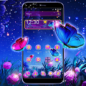Colorful Butterfly Star Night Theme