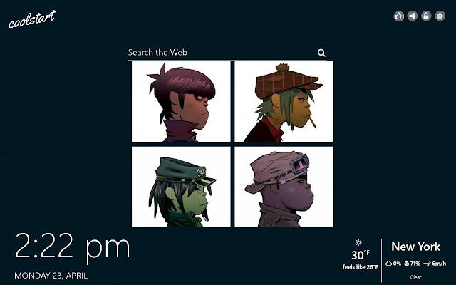 Gorillaz HD Wallpapers Music New Tab Theme
