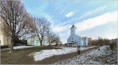 Photo: Calea Victoriei, spatiu verde in Mr.1 zona Biserica Greco-Catolica - 2018.01.23