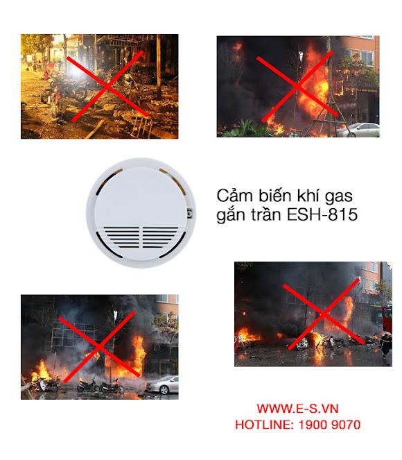 Cảm biến khí gas gắn trần ES-815