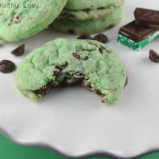 Green Mint Chocolate Chip Cookies.