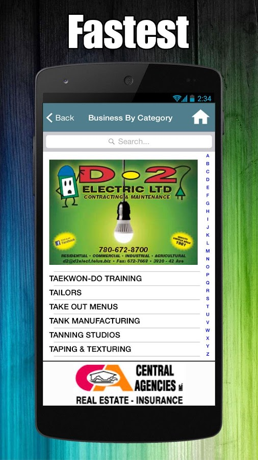 Camrose Directory- screenshot