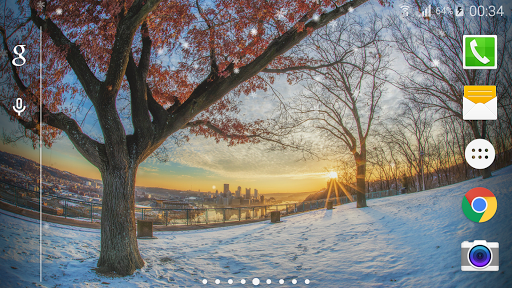Winter Snow Live Wallpaper  HD Screenshot