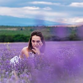 by Venelin Dimitrov - People Portraits of Women ( outdoors, nature, plant, violet, female )