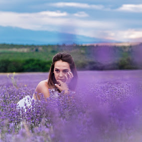 by Venelin Dimitrov - People Portraits of Women ( outdoors, nature, plant, violet, female )