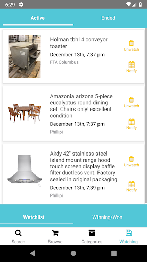 Screenshot for FTSearch - Fast Track Bidding Search Tool in United States Play Store