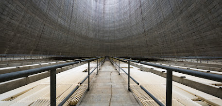 Photo: Panorama of the inside of a Nuclear Cooling Tower. I must say, it's a pretty cool experience to stand inside one of these and see first hand the immense nature of such a man made structure. Plus, the sound in this thing is one of the most incredible things I've ever heard.  This is the combination of three separate shots merged together with Lightroom with slight tweaks for exposure and tone.  #sonyalpha #coolingtower  #urbex  #abandoned
