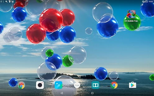OK Bubble Live Wallpaper Free- screenshot thumbnail