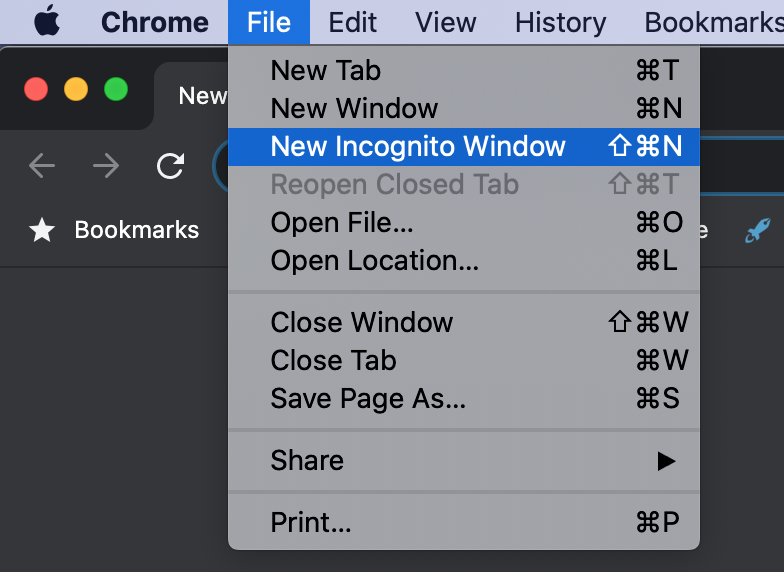 Chrome private browsing