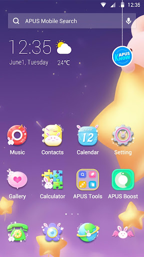 Cute theme for APUS
