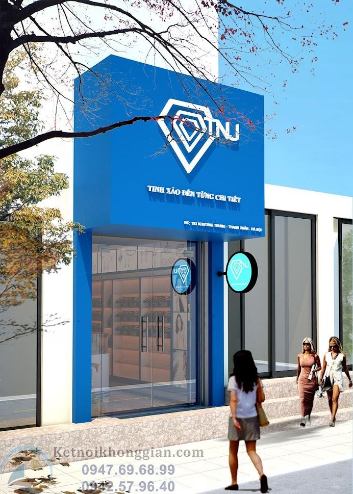 thiết kế nội thất cửa hàng trang sức của anh Trường