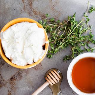 Goat Cheese Honey Thyme Ice Cream.