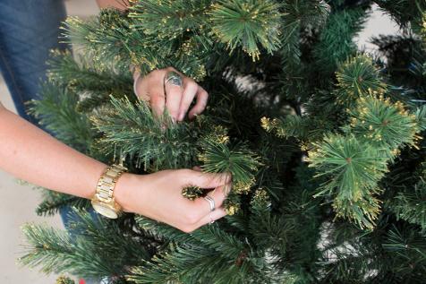 ako ozdobit vianocny stromcek, vetvicky