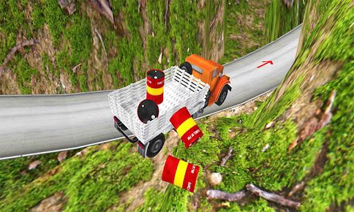 ヒルトラック運転手の3Dを登る