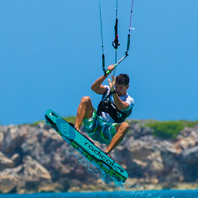 High flying kite surfing by Greg Bracco - Sports & Fitness Watersports ( sports,  )