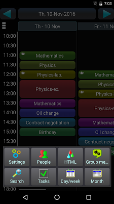Schedule Lt. - screenshot