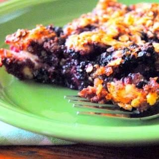 Irish Blackberry Crumble Cake