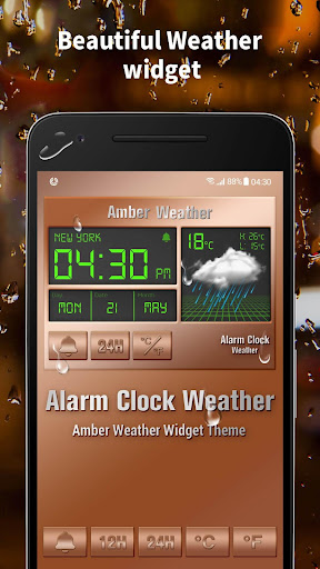 Alarm clock style weather widget 15.1.0.45940 screenshots 1