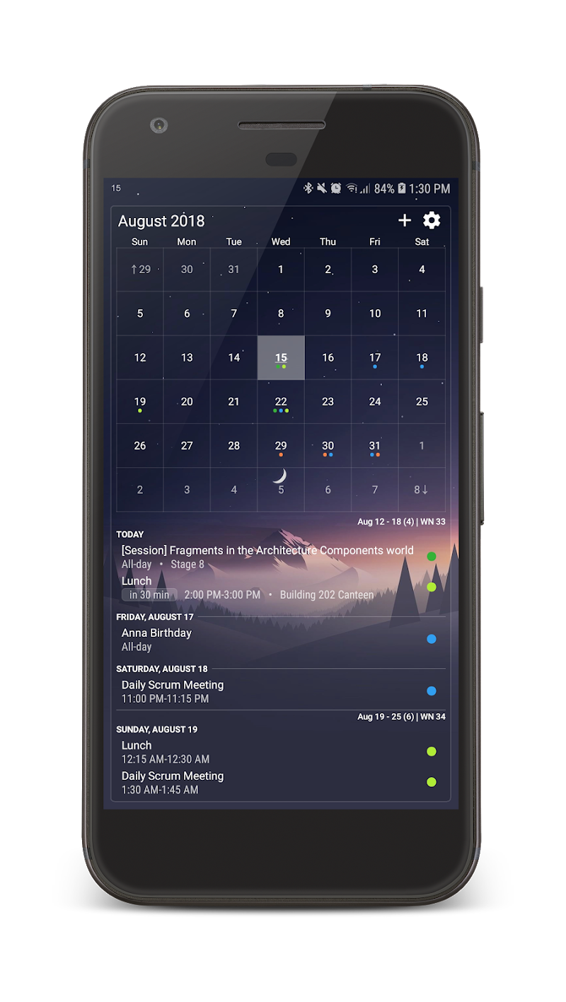 Your Calendar Widget Screenshot 2