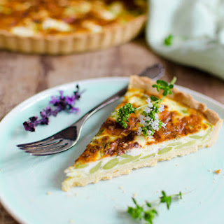 Fava Beans and Feta Tart