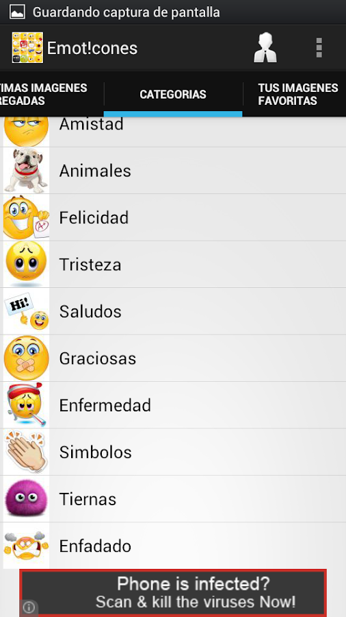 Emoticones para Whatsapp- screenshot