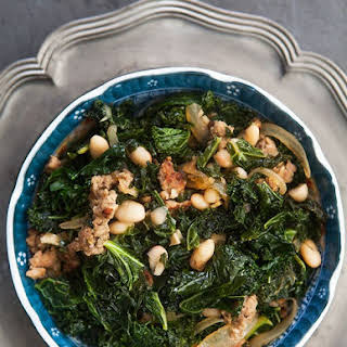 Kale with Sausage and White Beans.