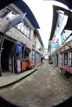 Photo: Fisheye photo of Namche Bazaar