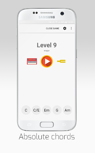 ChordProg Ear Trainer Screenshot