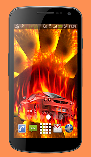Fire Car Live Wallpaper Theme - náhled