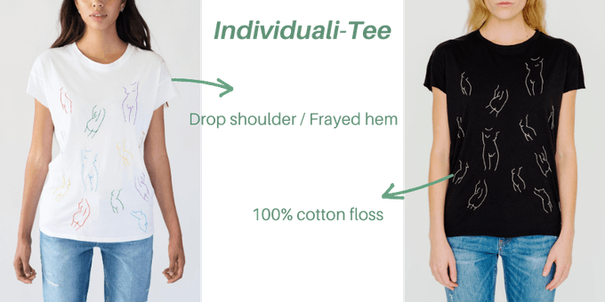 Individuali - Tee available in White and Black