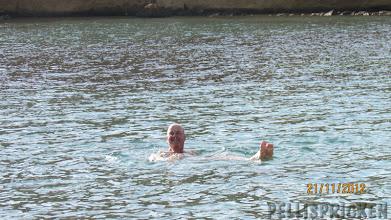 Photo: Janne badade han med, det var bara jag som avstog