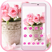 Pink Rose Theme love