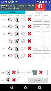 Poker Texas Holdem Calculator - náhled