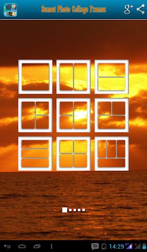 Sunset Photo Collage Frames