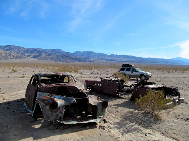 Old cars in Panamint Valley