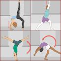 floor gymnastics techniques icon
