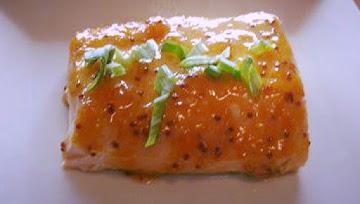 Apricot Garlic Dijon Glazed Salmon Recipe