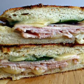 Havarti, Turkey and Spinach Panini.