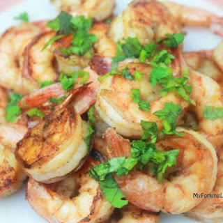 Indoor Grill Chilli Lime Shrimp.